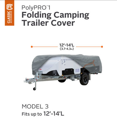 Classic Accessories 74403 PolyPro I Folding Camping Trailer Cover, Model 3