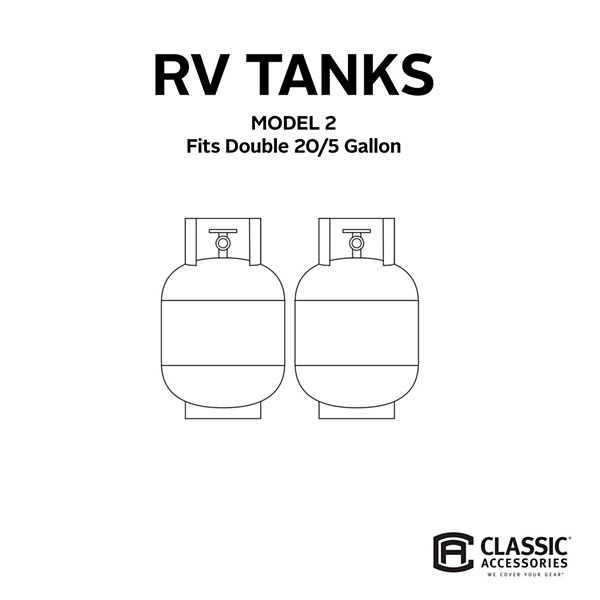 Classic Accessories 80-099-141001-00 RV Tank Cover, Model 2