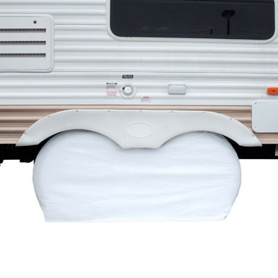Classic Accessories 80-110-042801-00 RV Dual Axle Wheel Cover, Large