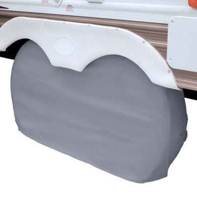 Classic Accessories 80-107-021001-00 RV Dual Axle Wheel Cover, Small