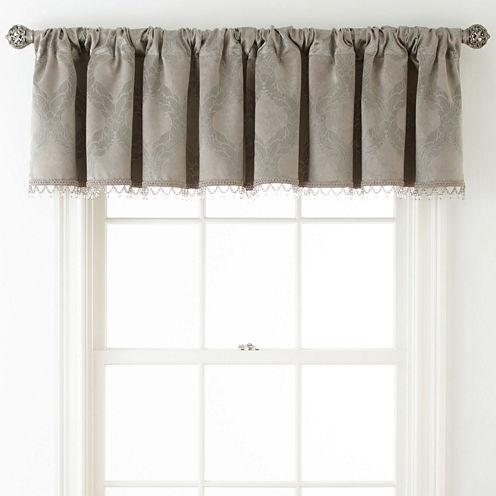 Royal Velvet® Allure Room-Darkening Rod-Pocket/Back-Tab Tailored Valance