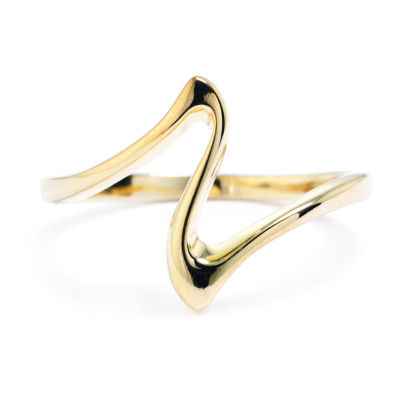 Silver Treasures Womens 14K Gold Over Silver Band