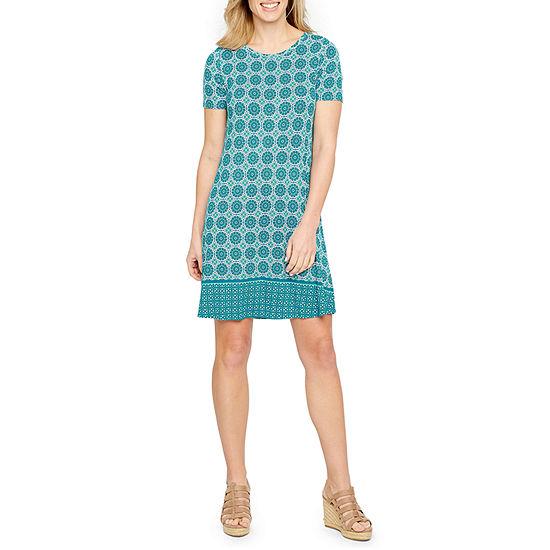 St. John's Bay Swing T-Shirt Dress - Tall