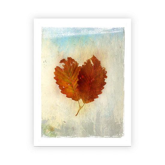 Brushstone Leaf III Canvas Wall Art