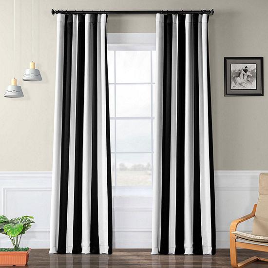 Exclusive Fabrics & Furnishing Awning Stripe Blackout Curtain Panel