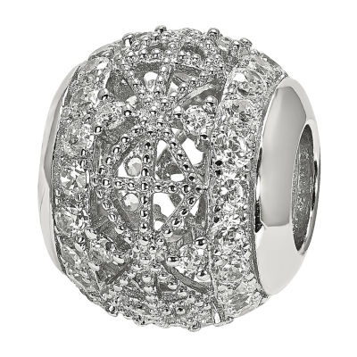 PS Personal Style Cubic Zirconia Sterling Silver Bead