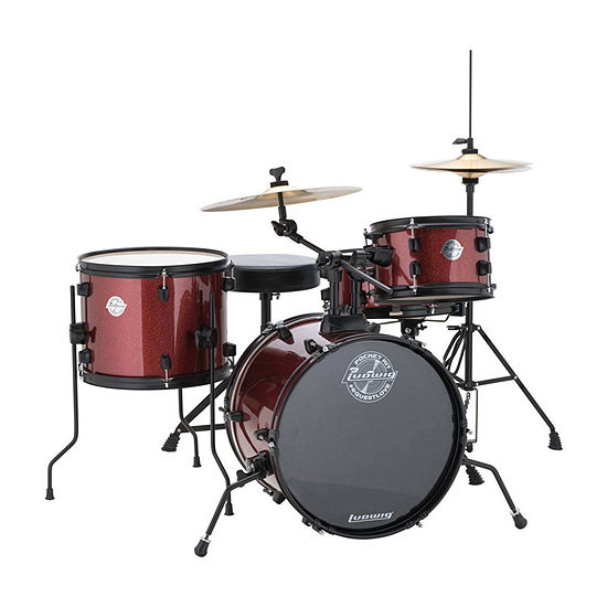 Ludwig Questlove Pocket Kit 4-Piece Drum Set - Red Wine Sparkle
