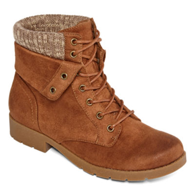 Arizona Womens Yetta Block Heel Lace Up Boots