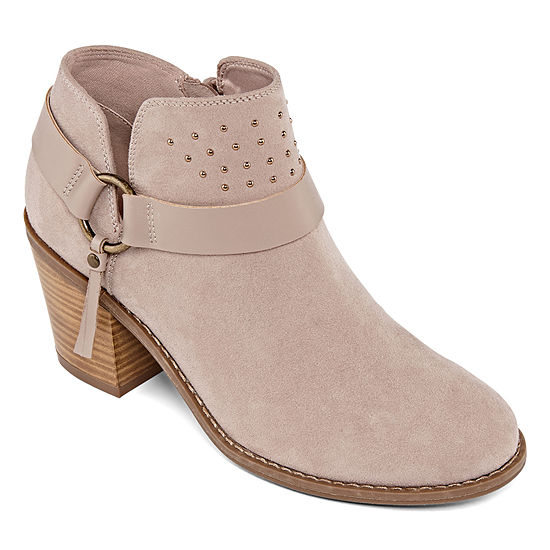 a.n.a Womens Malden Booties Block Heel
