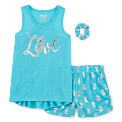 Cloud 9 2-pc. Shorts Pajama Set Big Kid Girls