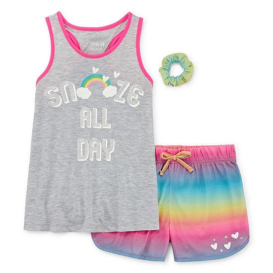 Cloud 9 2 Pc Shorts Pajama Set Big Kid Girls