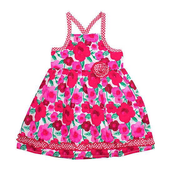Nanette Baby Girls Sleeveless Sundress - Toddler