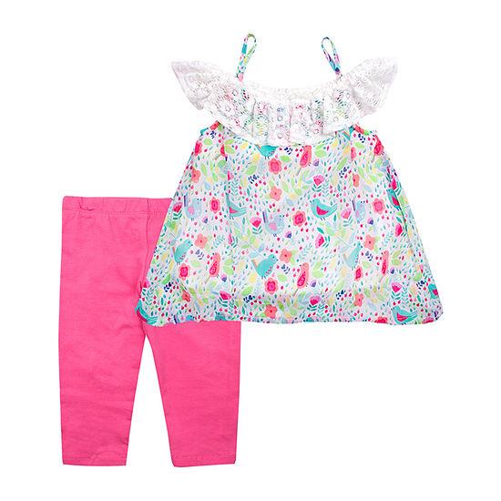 Nanette Baby Girls 2-pc. Legging Set-Toddler