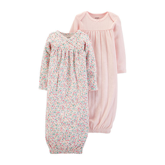 Carter's Baby Girls 2-pc. Long Sleeve Round Neck Nightgown