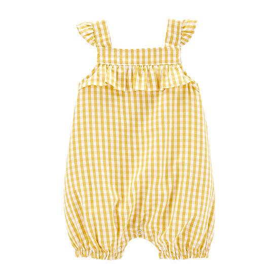Carter's Short Sleeve Romper - Baby Girls