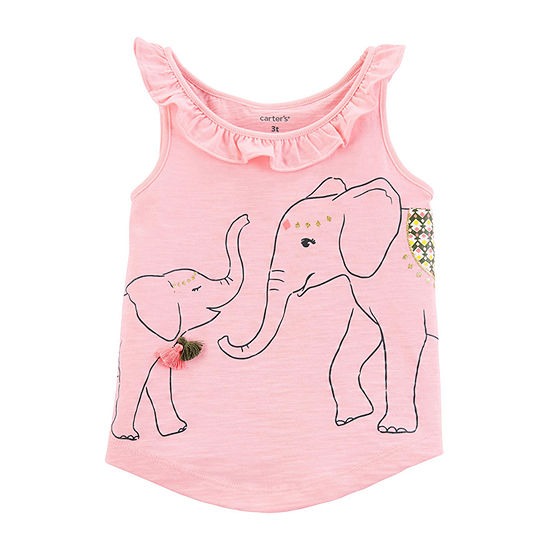 Carter's Girls Round Neck Tank Top - Baby