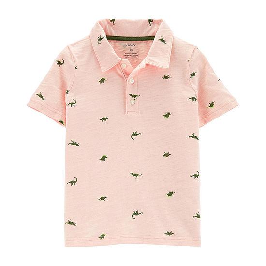 Carter's Boys Spread Collar Short Sleeve Polo Shirt - Toddler