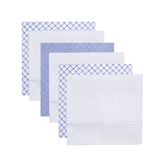Dockers 6 Pack 100% Cotton Handkerchief Set