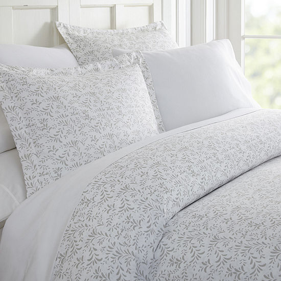 Casual Comfort Premium Ultra Soft 3-pc. Burst of Vines Print Duvet Cover Set