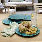 Outdoor Oasis Set of 4 Melamine Dinner Plates
