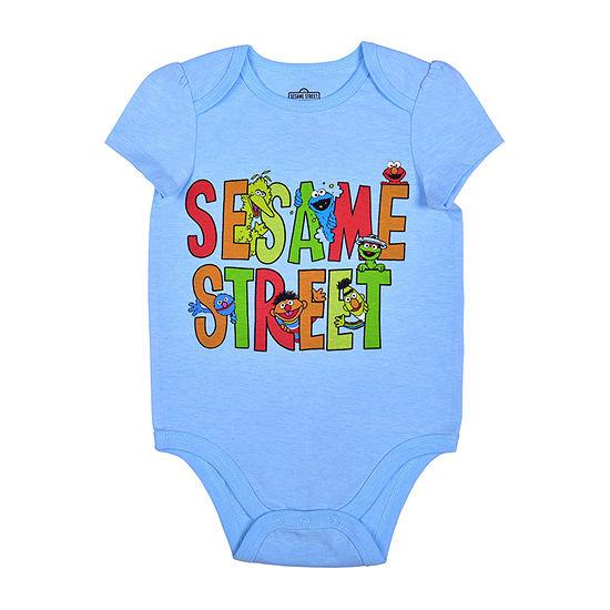 Okie Dokie Baby Girls Sesame Street Bodysuit