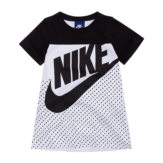 Nike Little Girls Short Sleeve Logo T-Shirt Dress