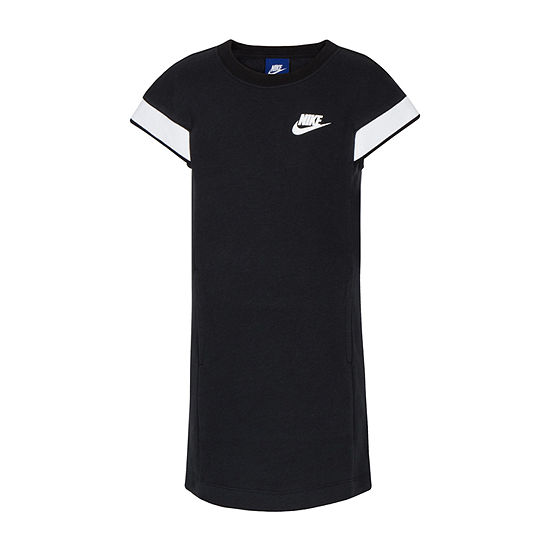Nike Little Girls Short Sleeve Logo T-Shirt Dress