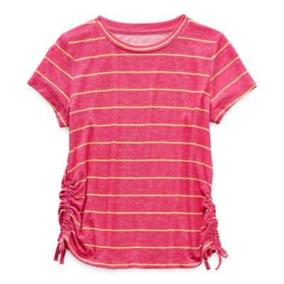 Thereabouts Side Cinch Little & Big Girls Crew Neck Short Sleeve T-Shirt