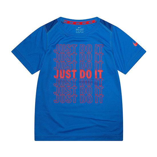 Nike Little Boys Crew Neck Short Sleeve Graphic T-Shirt