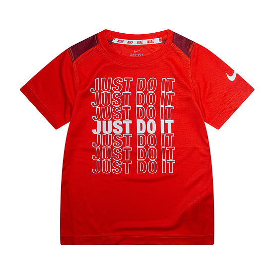 Nike Little Boys Crew Neck Short Sleeve Graphic T-Shirt