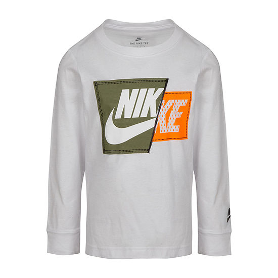 Nike Little Boys Crew Neck Long Sleeve Graphic T-Shirt