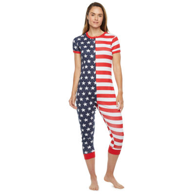 Americana Family Womens Short Sleeve One Piece Pajama
