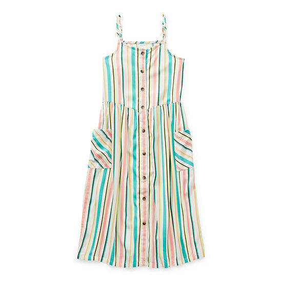 Arizona Little & Big Girls Sleeveless Shirt Dress