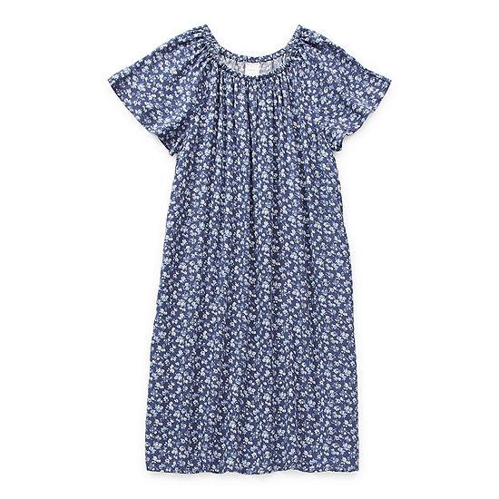 Arizona Little & Big Girls Short Sleeve Peasant Dress