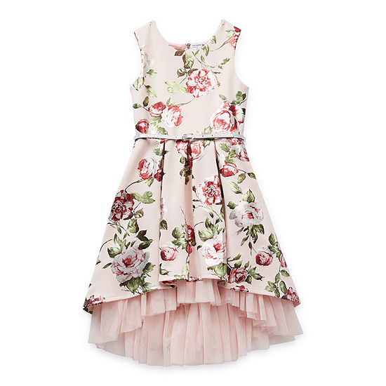 Knit Works Girls Belted Sleeveless Fit & Flare Dress