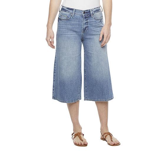 a.n.a Womens High Rise Wide Leg Cropped Jean