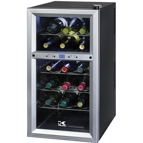 Kalorik 18 Bottle Dual Temp Wine Cooler