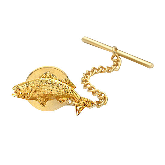 Fish Gold Plated Tie Tack