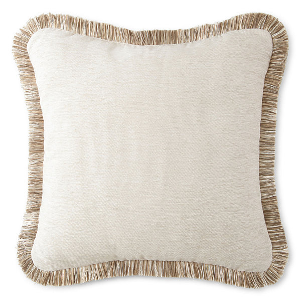 Jcpenney Home Decorative Pillow : JCPenney Home Chenille Fringe Decorative Pillow