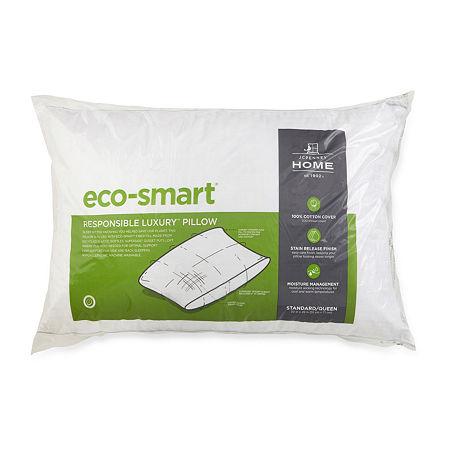 JCPenney Home Eco Smart Down Alternative Medium Density Pillow, One Size , White