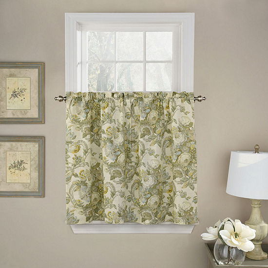 Waverly Spring Bling Rod-Pocket Window Tiers
