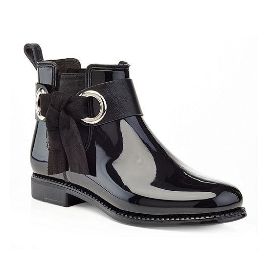 Henry Ferrera Womens Marsala 52 Rain Boots Water Resistant Flat Heel Pull-on