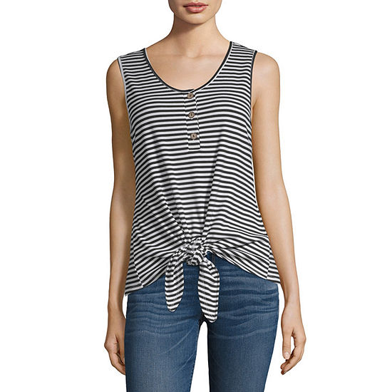 a.n.a Ribbed Henley Tank - Tall