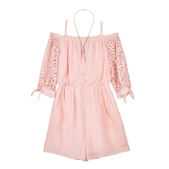 a20758d30e16 by&by girl 3/4 Sleeve Romper Girls - JCPenney