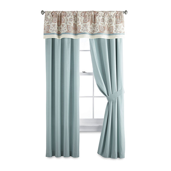 JCPenney Home Adelaide Light-Filtering Rod-Pocket Set of 2 Curtain Panel