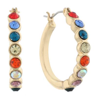 Gloria Vanderbilt 25.7mm Hoop Earrings