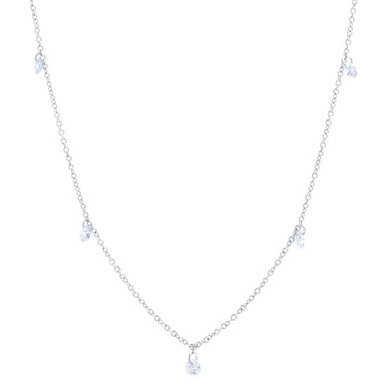 Silver Reflections Pure Silver Over Brass 36 Inch Solid Cable Chain Necklace