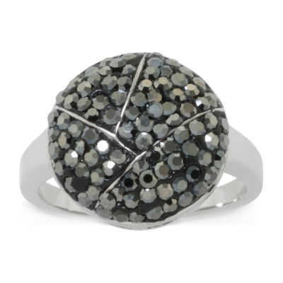 Sparkle Allure Womens Gray Crystal Cocktail Ring