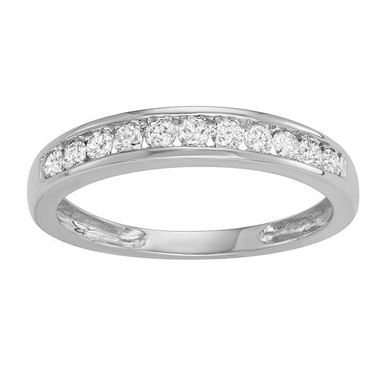 2MM 1/4 CT. T.W. Genuine White Diamond 10K White Gold Band