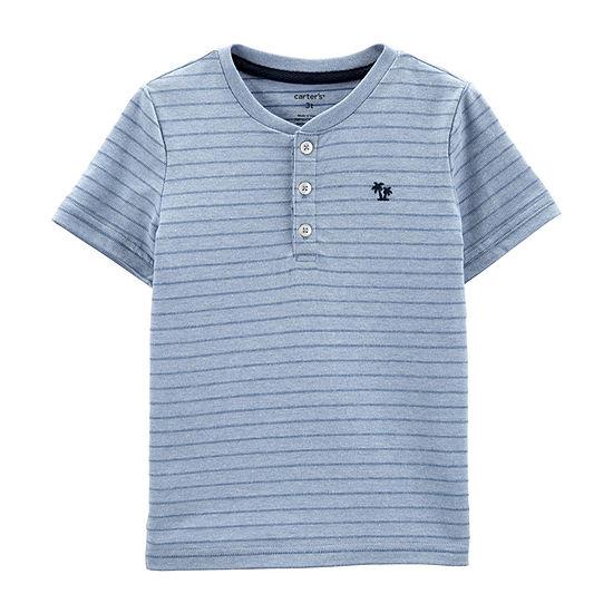 Carter's Boys Short Sleeve Henley Shirt - Toddler